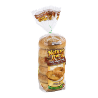 Nature's Own Bagels 100% Whole Wheat - 6 CT
