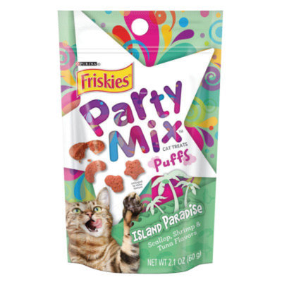 Friskies® Party Mix Puff Island Paradise Cat Treat