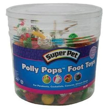Super Pet 60-Piece Polly Pops Foot Toys Bucket, Assorted