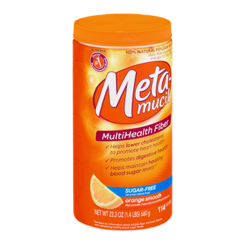 Metamucil Multi-Health Fiber Powder Orange Smooth