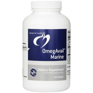 Designs for Health - OmegAvail Marine w/Lipase 120 softgels Health and Beauty