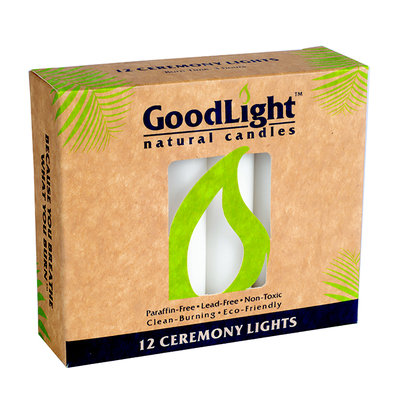 GoodLight Natural Candles - Ceremony Lights Unscented - 12 Pack