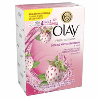 Olay Fresh Outlast Beauty Bar, Cooling White Strawberry & Mint, 4 ea