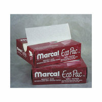 Marcal Paper Mills, Inc. 10'' Eco-Pac Natural Interfolded Dry Waxed Paper Sheets in White