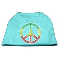 Mirage Pet Products 5271 XLAQ Rasta Peace Sign Shirts Aqua XL 16
