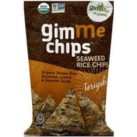 Gimme Clips GimMe Organic Gimme Chips Teriyaki Seaweed Rice Chips, 4 oz, (Pack of 12)