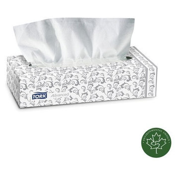 Tork Products Advanced Extra Soft, 2-Ply Facial Tissue, White, 100/Box, 30 Boxes/Carton, Sold as 1 Carton