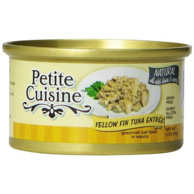 Petite Cuisine Yellow Fin Tuna Entree for Cats, 3-Ounce Cans (Pack of 24)