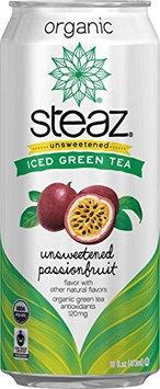 Steaz ICE TEA, OG2, GRN, UNSWT FRT, (Pack of 12)