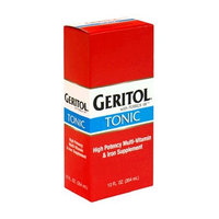 Geritol liquid Energy support High potency B-Vitamin & Iron liquid supplement,12-Ounce (354 ml) (Pack of 3)