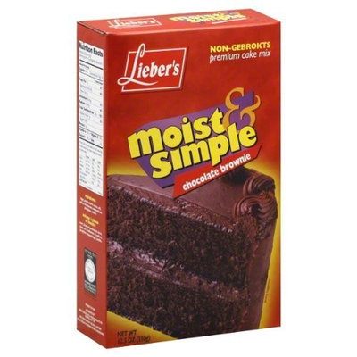 Liebers Cake Mix, Brownie, Passover, 12.5-Ounce (Pack of 4)