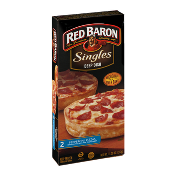 Red Baron Singles Deep Dish Pizzas Pepperoni
