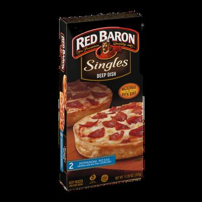 Red Baron Singles Deep Dish Pizzas Pepperoni