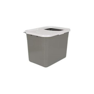 Petmate Inc-Top Entry Litter Pan- Nickel-pearl 20 X 15 X 15 22062