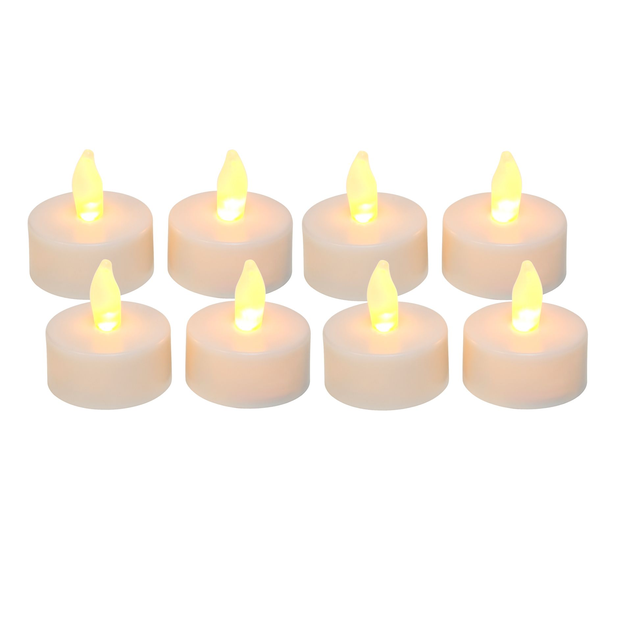 Essential Home Flameless White Tea Light Candles
