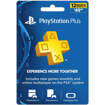 Sony 12-Month Playstation Plus Membership Card $49.99 (PlayStation 4)