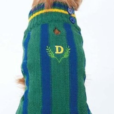 Fashion Pet (Ethical) DFH570BMD Ivy League Dog Sweater, Medium, Blue
