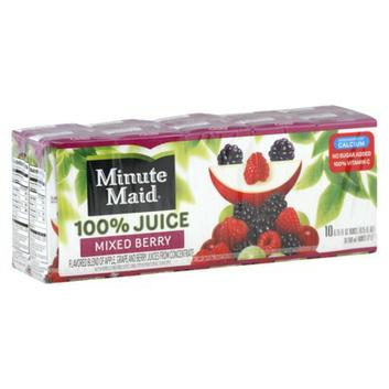 Minute Maid Mixed Berry 100% Juice Box 10 pk