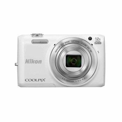 Nikon S6800 16MP Digital Camera with 12 X Optical Zoom - White