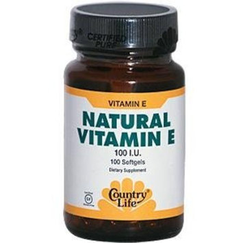 Country Life, Natural Vitamin E 100 I.u., 100-Count