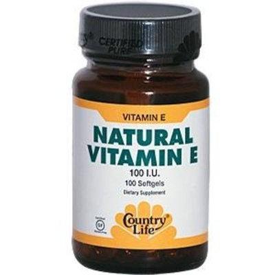 Country Life, Natural Vitamin E 100 I.u., 100-Count