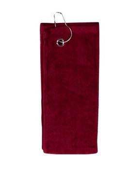 Pds Online Simplicity 100% Cotton Terry Sports Golf Towel with left top Grommet Hook