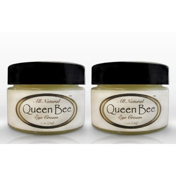 Queen Bee Organic Under Eye Balm (2 jars) Queen Bee 100% All-Natural, Organic Under Eye & Anti Wrinkle Balm - Removes Dark Circles, Facial Lines and Wrinkles Naturally - .5oz each jar