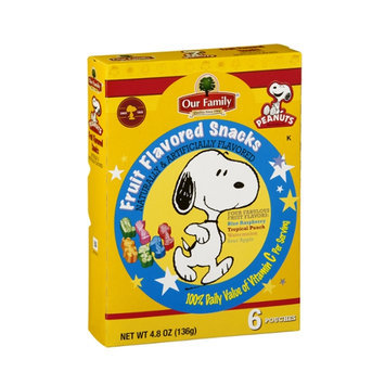 Our Family Snacks Peanuts Fruit Flavored - 6 CT