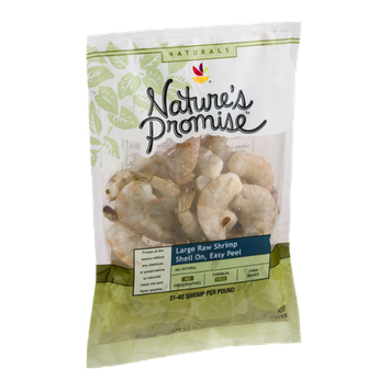 Nature's Promise Naturals Large Raw Shrimp Shell On - 31 CT