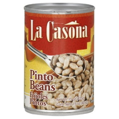 La Casona Grill La Casona Beans, Whole Pinto, 15-Ounce (Pack of 24)