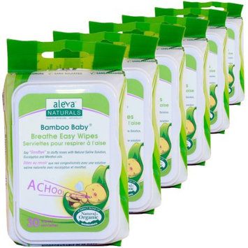 Aleva Naturals Bamboo Baby Nose n' Blow Wipes, 30 sheets, 6 count