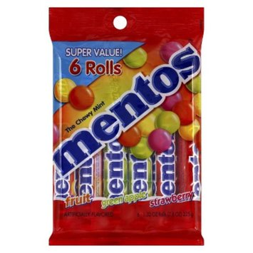 Mentos Mixed Fruit Chewy Mint Candy 6 pk