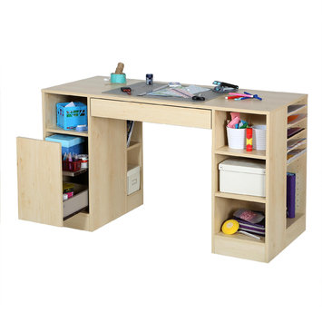 South Shore Industries Ltd South Shore Crea Craft Table - Natural Maple