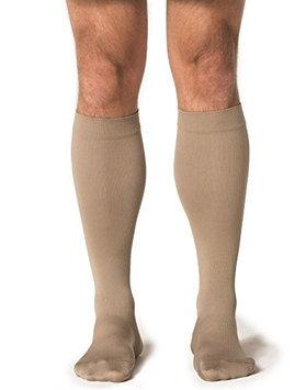 Sigvaris Midtown Microfiber 821CXSM32 15-20 mmHg Closed Toe Mens Calf Extra Large Short - Tan-Khaki