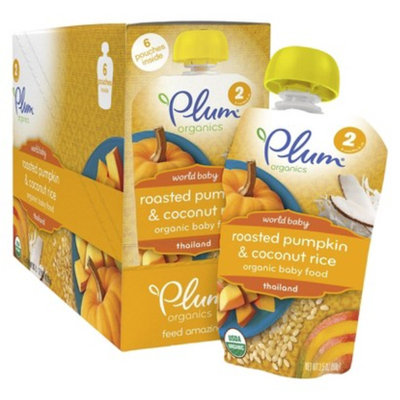 Plum Organics Plum Orgnanics - World Baby Roasted Pumpkin & Coconut Rice 3.5oz (6