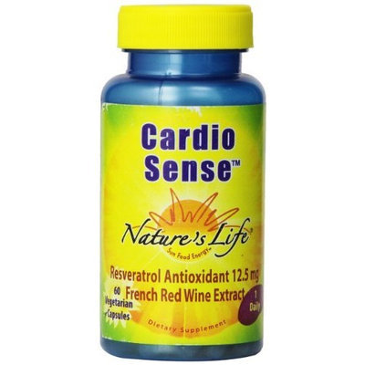 Nature's Life Cardio Sense, 250 Mg, Reveratrol Antioxidant, French Wine Extract, 12.5 mg, 60 Vegetarian Capsules