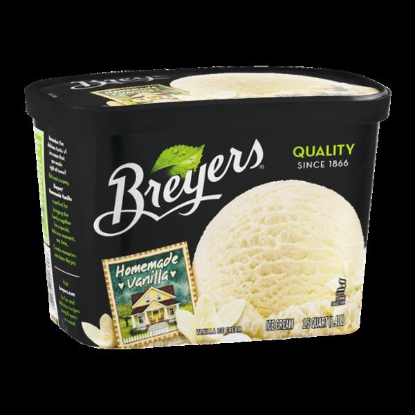 Breyers Homemade Vanilla Ice Cream 48 oz