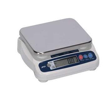 A & D WEIGHING SJ-1000HS Gnrl Purpose Scale, SS Pltfrm,2.2 lb. Cap