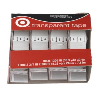 up & up up&up Transparent Tape 4-pk. 3/4in x 275in