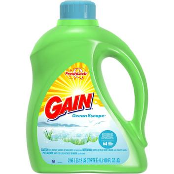 Gain With FreshLock Ocean Escape Liquid Detergent 64 Loads 100 Fl Oz