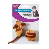 Ethical Tiger Stripe Mouse and Ball Cat Toys, 2-Pack