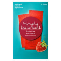 Simply Balanced Strawberry Fruit Strips 10 ct