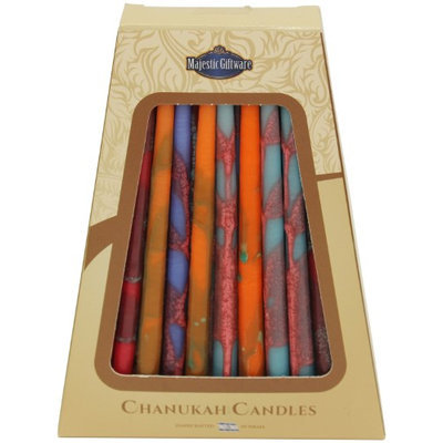 Artsy Casa Lamp Lighters Ultimate Judaica Safed Chanukah Candles - 45 Pack - Assorted Colors - 6