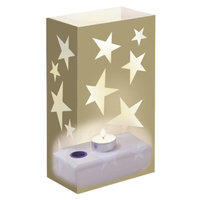 Lumabase Candle Luminaria Kit - Gold/White (12 Ct)