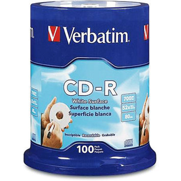 Verbatim CD-R 80min 700mb 52x 100pk Spindle