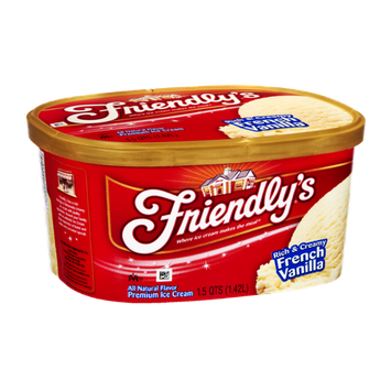 Friendly's Rich & Creamy French Vanilla Premium Ice Cream