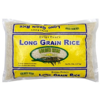Golden Star Rice, Long Grain, 5-pounds (Pack of 8)