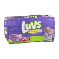 Luvs Ultra Leakguards Size N Diapers - 38 CT
