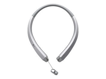 LG Tone Infinim HBS-910 Headset - Earphones with mic - in-ear - behind-the-neck mount - wireless - Bluetooth - silver