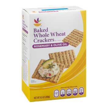 Ahold Baked Whole Wheat Crackers Rosemary & Olive Oil